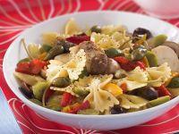 insalata di pasta porcini e peperoni sottolio ricetta Sale&Pepe