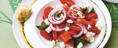 insalata di pomodori e anguria al profumo di vaniglia ricetta