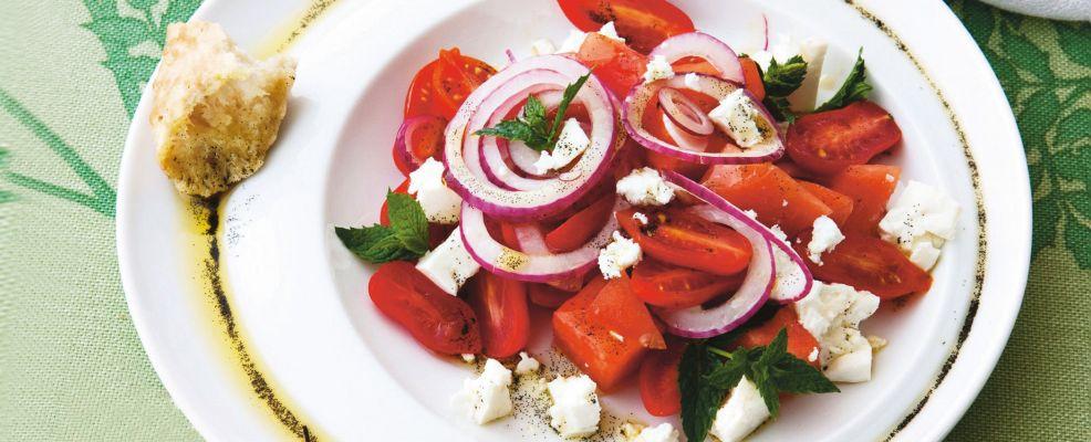 insalata di pomodori e anguria al profumo di vaniglia ricetta Sale&Pepe
