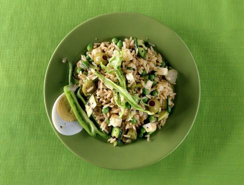 insalata di riso integrale con la caciotta Sale&Pepe ricetta