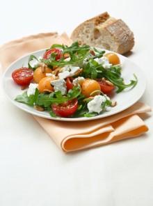 Insalata di rucola, pomodorini e feta