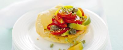 insalata in rosso e pasta fritta ricetta