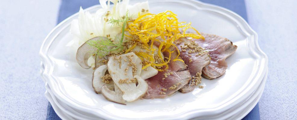 insalata-tiepida-di-tonno-con-porcini-e-finocchi ricetta
