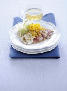 Insalata tiepida di tonno con porcini e finocchi