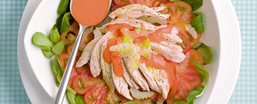 insalata verde e rossa con salsa al peperone ricetta Sale&Pepe