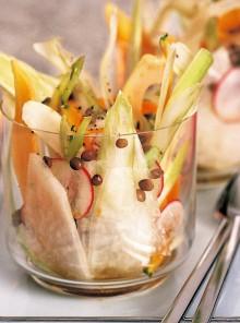 Insalatina con vinaigrette e lenticchie