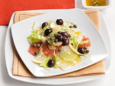 insalatina di agrumi misti e olive nere ricetta