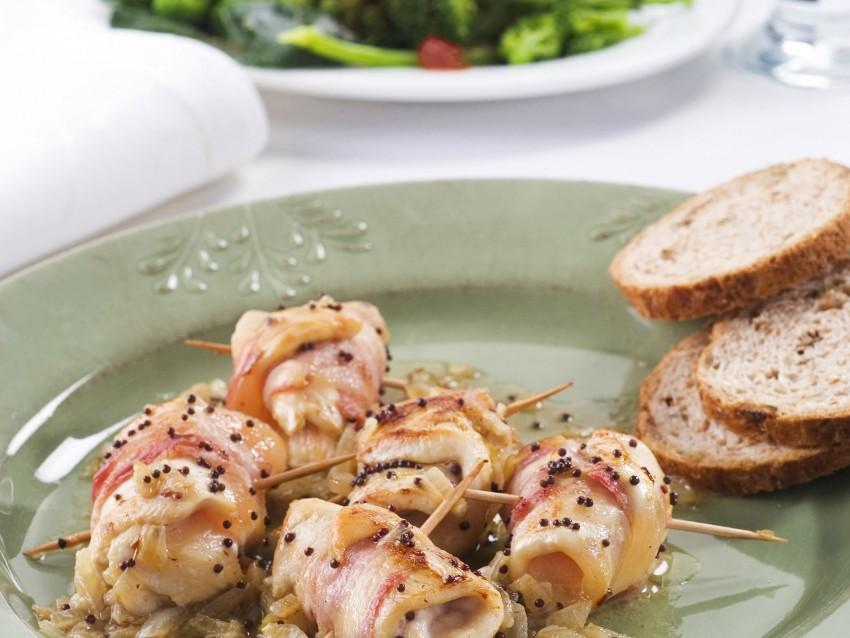involtini-di-pollo-e-bacon-alla-senape ricetta