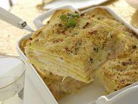 lasagne con carpaccio di salmone e robiola Sale&Pepe foto