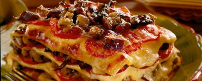 lasagne con parmigiana di melanzane ricetta