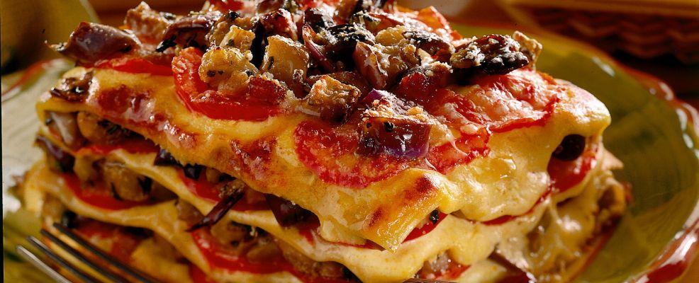 lasagne con parmigiana di melanzane Sale&Pepe ricetta