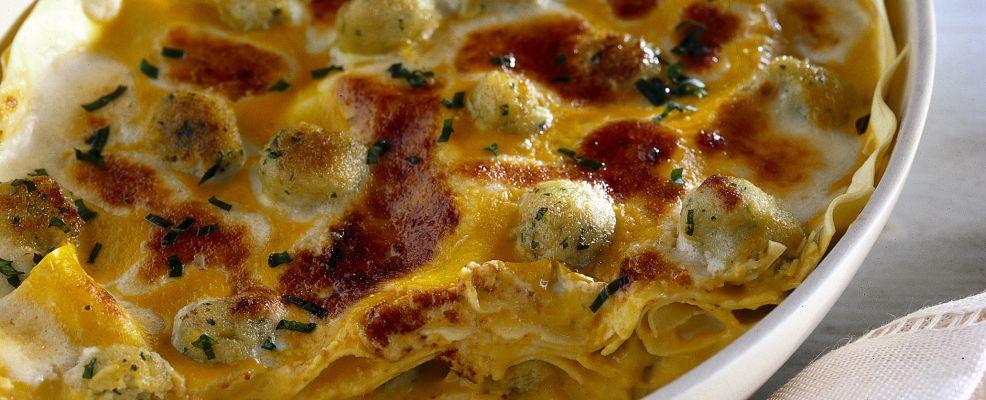 lasagne con zucca e polpettine Sale&Pepe ricetta