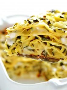 Le lasagne con zucchine e porri