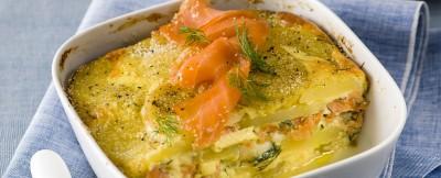 lax pudding con salmone affumicato e aneto ricetta