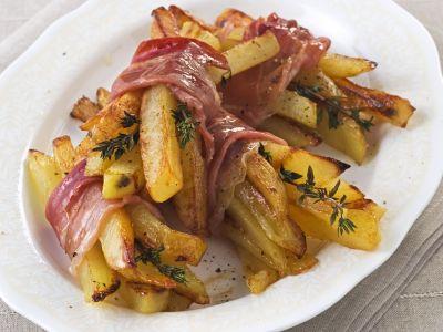 mazzetti di patate al forno con prosciutto ricetta