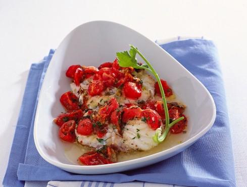 medaglioni-di-rana-pescatrice-con-pomodorini ricetta
