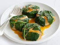 medaglioni-in-foglie-di-spinaci-allo-zafferano ricetta sale e pepe