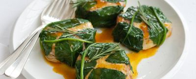 medaglioni-in-foglie-di-spinaci-allo-zafferano
