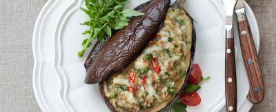 melanzane con carne, crescione e provolone piccante ricetta