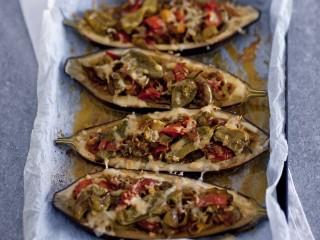melanzane-con-friggitelli-pomodori-e-provola-affumicata ricetta