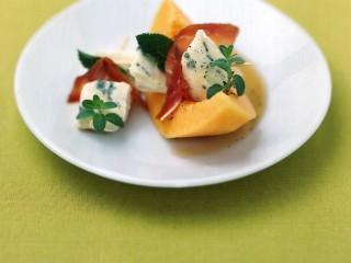 melone con spiedini di bleu e speck ricetta Sale&Pepe
