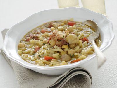 minestra-di-gramigna-ceci-e-prosciutto ricetta