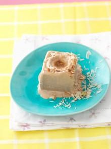 La mousse gelata di ricotta e caffé
