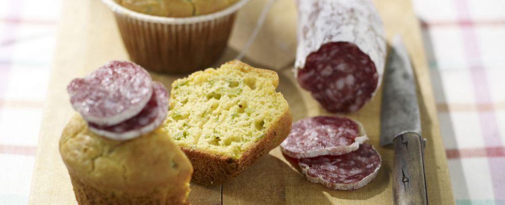 muffin di fave con salame Sale&Pepe