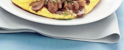 omelette soufflé agli champignon ricetta