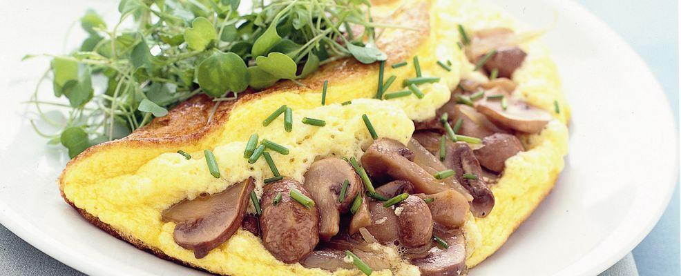 omelette soufflé agli champignon Sale&Pepe ricetta