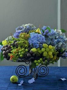 Ortensie e frutta