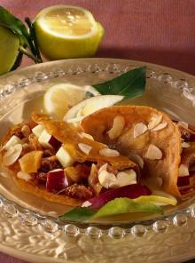 Pancakes con composta di frutta secca