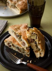 Pane con salsiccia e carciofi