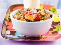 panzanella con frittata e cetrioli ricetta Sale&Pepe