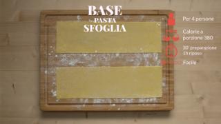 La pasta base per la sfoglia