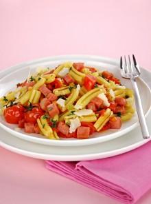 La pasta con ragù di pomodorini