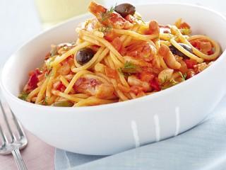 pasta-con-ragu-di-triglie-al-pompelmo ricetta