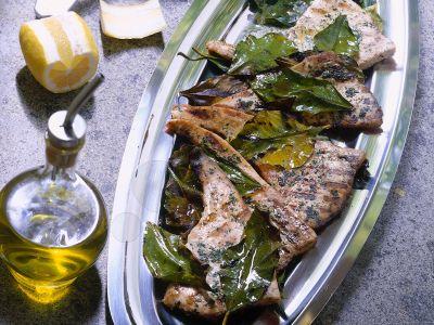 pesce spada in foglie di limone ricetta