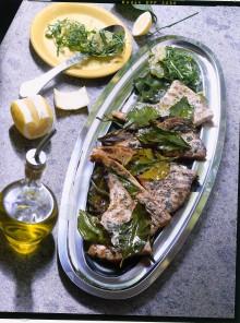 Pesce spada in foglie di limone