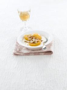 Pesche con zabaione al Moscato