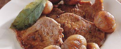 piccatine di lonza con castagne