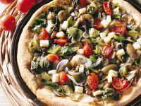 pizza con scarola, cipolla e pomodori ciliegia Sale&Pepe ricetta