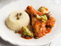 pollo in umido con capperi e cavolfiore Sale&Pepe ricetta