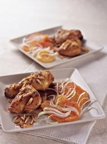 Pollo marinato con insalata di arance