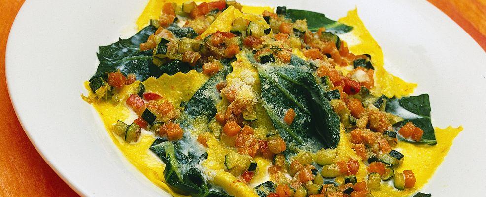 preparazione lasagnette-con-verdure