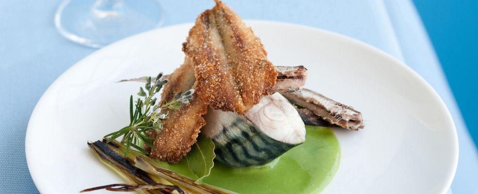 preparazione trittico-di-pesci-azzurri-su-crema-di-fave