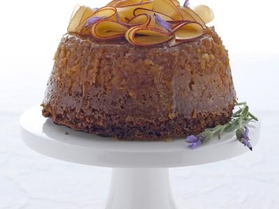 pudding-al-miele-di-lavanda-con-insalata-di-pesche ricetta