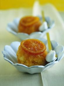 Pudding tiepido con miele di fiori d'arancio