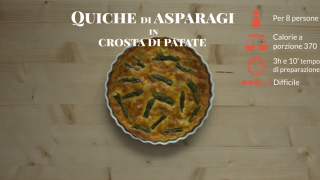 La quiche di asparagi in crosta di patate