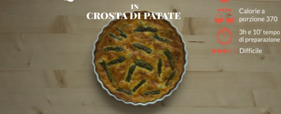 Quiche di asparagi in crosta di patate Sale&Pepe